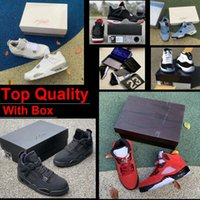 Raging Bull 5 Basketball shoes Top Quality White Oreo 4s Bred 11 Real Carbon Fiber Space Jam 11s 5s Fire Red 4 Black Infrared Union Guava Ice With Box