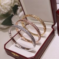 Luxury jewelry Designers Bracelets Rose Gold Silver Bracelet Bangles for Couples Lovers Valentines Day as special gift