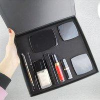EPACK 9 Piece Set Foundation Powder Blush With Brush Liquid Foundation Lipstick Lipgloss Eyeshadow Palette Eyeliner 9 In 1 Set