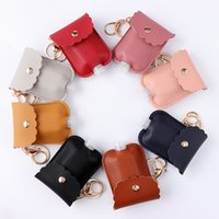 Portable PU leather Plastic Travel Bottle 30ml Hand sanitizer holder with Keychain WXY130