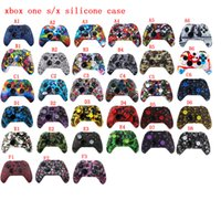 Silicone Protective Skin Case Water Transfer Printing Camouflage Cover Grips Caps for XBox One X S Controller Protecto caser