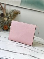 By The Pool Cosmetic Bags 26 Empreinte Cowhide Leather large capacity Toiletry Pouch and practical travel bag or suitcases Good For Makeup