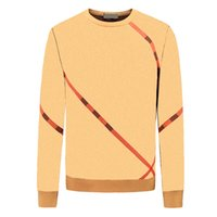 Mens Fashion Sweaters Classic Horse Pattern Pullovers British Style Casual Sweater with Stripe Printing 2021 Autumn