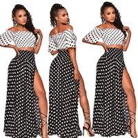 Women dresses dot crop top long skirt two piece set summer beach holiday tops skirts womens suits loose sexy