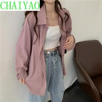 long summer trench women 2021 - Women's Trench Coats Sunscreen Shirt Thin Summer Loose Large Edition Wear Versatile Solid Color Long Sleeve Top 2021
