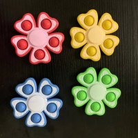 Flowers Shape Push Pop Bubble Toys TikTok Squeeze Finger Top Family Fidget Pioneer Decompression Toy Plastic Poppers Board Simple Stress Relief Game G63FE9E