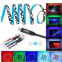 Discount led strip light types Strips DC 5V USB LED Strip 3528 RGB Light Flexible 3M Free Angle Bending Channel Letter S Type 28KEY RF Remote For TV Background