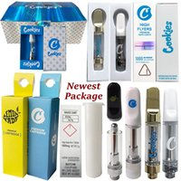 Premium Cookies Vape Cartridges Limited Edition High Flyers Push Atomizers Packaging Thick Oil Dab Wax Vaporizer Ceramic Coil Carts E Cigarettes 510 Thread Empty
