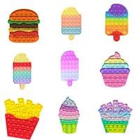 DHL Ship Colorful Magic Push Bubble it Fidget Toys Rainbow Color Autism Special Needs Sensory Anti-Stress Relief Toys