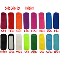 Ice Stick Holders Sleeve Solid Color Icy Sleeves Neoprene Freezer Holder Icee Bag Case Kitchen Tools YFA2978