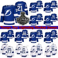 Tampa Bay Lightning Jersey 2021 Stanley Cup Finals 86 Nikita Kucherov 77 Victor Hedman 91 Stamkos 21 Brayden Point 71 Cirelli hockey jerseys
