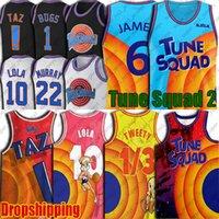 6 James Space Jam 2 Tune Squad Jersey Bugs Lola Bunny Jerseys Tweety Bird Taz Jersey Throwback Daffy Duck Bill Murray Jersey Basketball