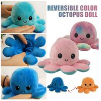 DHL fast Reversible Flip octopus Plush Stuffed Toy Soft Animal Home Accessories Cute Doll Children Gifts Baby Companion