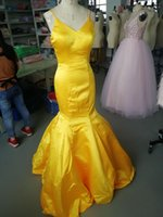 2021 Mermaid Long Prom Sleeveless Spaghetti Straps Zipper Satin Dress Homecoming Formal Party with Custom Made