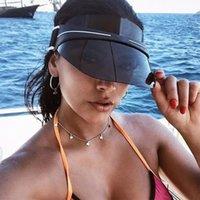 Designer visor upgraded thickened brand sun hat summer cap casquette outdoor uv sunglasses adjustable size 56-62cm Sports Golf Tennis Beach Headband Baseball Hats