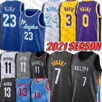 Kevin James Durant Harden Jersey Kyrie Brooklyns 11 Irving Jerseys Los 23 LBJ Angeles Black Mamba Anthony Kyle Davis Kuzma Jersey Basketball