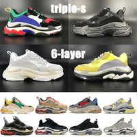 2021 top Quality s 6-layer combination sole platform casual shoes silver red multi-color triple black white neon yellow grey men womens sneakers