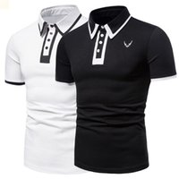 hip hop dress t shirt 2021 - Hip Hop Designers Mens Polo T Shirt White Men Clothing Male T Shirts Luxurys Dress Collared T-Shirt Classic Ropa De Hombre 2021 Crop Top Summer Fitness Fashion M0395