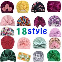 18 style Baby Hats Bunny Ear Caps Turban Knot Head Wraps Infant Kids India Hat Ears Cover Childen Milk Silk Beanie