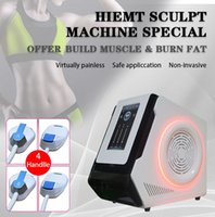 2021 sculpt EMslim RF HI-EMT shaping machine 4 handles work together EMS Muscle Stimulator electromagnetic fat burning sculpting beauty equipment free logo