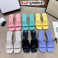 High Heels Rubber Slide Sandal Platform Slipper For Women Fashion Luxurys Designers Sandals Thick Bottom Pink Black Alphabet Lady Girls Summer Loafers