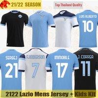 21 22 SS Lazio Soccer Jerseys IMMOBILE 2021 2022 F. ANDERSON F. CAICEDO SERGEJ LUIS ALBERTO Football Shirt CORREA LAZZARI MARUSIC MURIQI Jersey