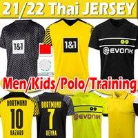 21 22 DortMUnd soccer jerseys HAALAND REUS Malen HAZARD REYNA HUMMELS BRANDT 4th 2021 2022 cup jersey SANCHO MEN Kids Kits football shirts uniforms training polo