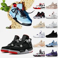 Bred 4 4s Mens shoes Jumpman Veterans Day Fire Red Sail White Oreo Black Cat University Blue Infrared Shimmer Fashion Men Women Sneakers Sports Trainers Manila