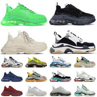Paris Platform 17FW Triple S Designer Flat Casual Shoes Vintage Sneakers Clear Sole Triple-s Men Women Luxurys Leisure Loafers Old Dad Trainers Outdoor