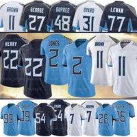 "2 Julio Jones 17 DERRICK HENRY Football Jersey A.J. Brown 77 Taylor Lewan 31 Byard 9 Steve McNAIR 81 Jonnu Smith 3 Caleb Farley Tennessee""Titans""M Jerseys"