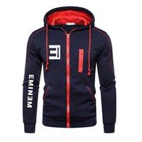 Wholesale 2020 Autumn Winter Fashion EMINEM print Hoodie Sweatshirt Clothes Men women hoodies Men Hip Hop Zipper Hooded M XXXL