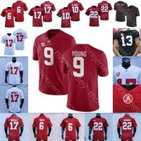 Alabama Crimson Tide Football Jersey NCAA College Bryce Young Sanders Brian Robinson Jr. Will Anderson McKinstry Smith Waddle John Metchie III Williams Latu Bolden