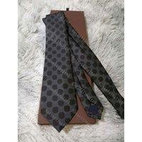 Men's Letter Tie Silk Necktie Big check Little Jacquard Party Wedding Woven Fashion Design with box L003
