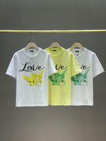 Summer Women's T shirt Straight Round Neck Graphic Print Short Sleeve