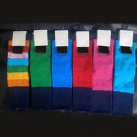 6 Colors Women Girl Letters Socks Letter Cotton Fashion Sock for Gift Party High Quality Wholesale Price