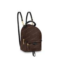 2021 Spring Backpacks Mini Backpack Brown Flower Leather Handbag Bags Crossbody Bag Tote Shoulder 41562 17 22 10cm #SJB01