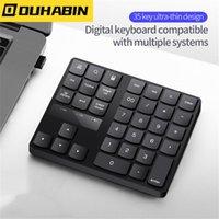 Wholesale Wireless Numeric Keyboard Portable Keypad Keys PC Rechargeable Digital Tablet Accessories Desktop Office Keyboards