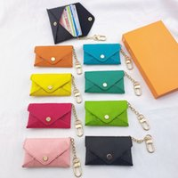 Unisex Designer Key Pouch Fashion leather Purse keyrings Mini Wallets Coin Credit Card Holder 8 colors