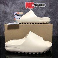 Top Quality Slides Graffiti Bone Resin Desert Sandy Rubber Slippers Summer Brown Flat Men Women Beach Foam Runner with box Size 36-45