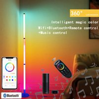 LED Corner Floor Lamp Wifi RGB Background Atmospheres light Living Standing Lighting for Compatible with Alexa Google Assistant