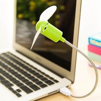 gadgets fans 2021 - Other Home Decor Creative Mini USB Fan LED Light Gadgets Flexible For Laptop PC Notebook High Quality Desktop Computer Summer