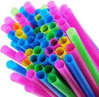 Wholesale FaSweety Assorted Bright Colours Jumbo Smoothie Straws Pack of Pieces mm Wide Bubble Tea Straws Large Plastic Straw