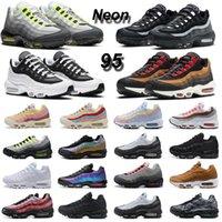 2021 OG 95 Neon men women running shoes 95s triple black white Volt Greedy Cherry Blossom Dark Smoke Grey mens trainers sports sneakers
