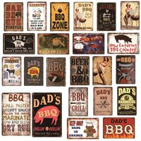 BBQ Car Motorcycle Cafe Coffee Dog Cat Motor oil Beer Egg Home Decor Bar Plaque Pub Decorative Wall Art Vintage Metal tin Signs
