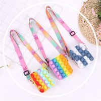 DHL SHIP Cute Bag Pops Fidget Toys Its Reliver Stresstoy Rainbow Push Bubble Simpl Dimmer Antistress Children Sensory Game Toy Backpack C104