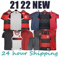 21 22 Flamengo soccer jerseys POLO vest shorts DE ARRASCAETA men's shirts football kids kit GERSON Camisa 2022 Flamengo training Feminina uniform