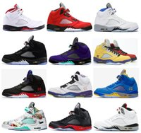 5s Fire Red Raging Bull Black Metallic Stealth 2.0 Basketball Shoes Men 5 What The Alternate Bel Top 3 Grape Satin Bred Wings White Cement Sneakers