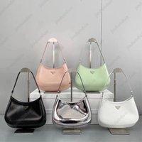 Top quality bag Luxurys Designers Real Leather Women's Cleo brushed Original Box tote Nylon man Shoulder Bags hobo Crossbody Handbags body