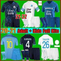 men kids kit 21 22 Marseille soccer jersey Olympique De 20-21 OM maillot foot THAUVIN BENEDETTO KAMARA PAYET football shirts