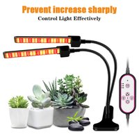 full spectrum LED plant cob lead grow lights clips indoor planting greenhouse lamp seedling raising timing and dimming controlable light hydroponic cultivation